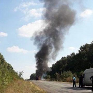 Ехали в санаторий: под Сумами на ходу загорелся автобус с детьми