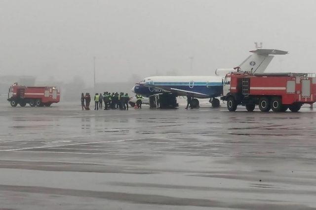 В аэропорту «Киев» произошла авария с самолетом