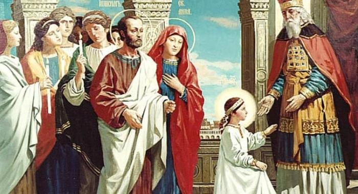 4 декабря — Введение в Храм Пресвятой Богородицы
