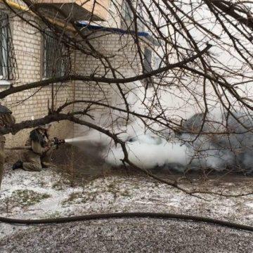 В Запорожской области пьяный мужчина случайно сжег свой автомобиль