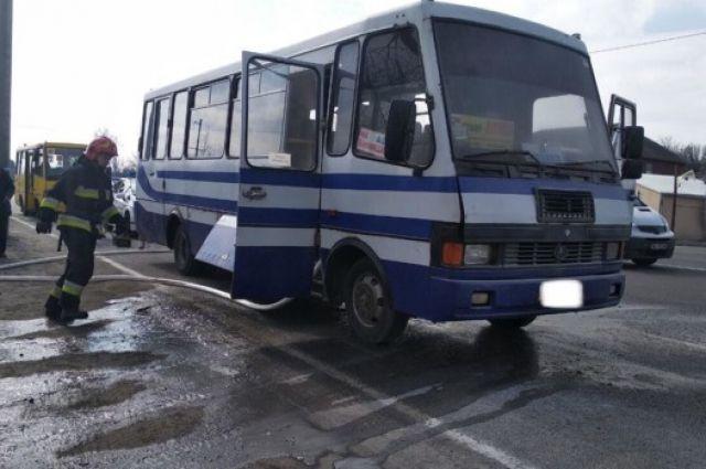 В Винницкой области произошел пожар в пассажирском автобусе