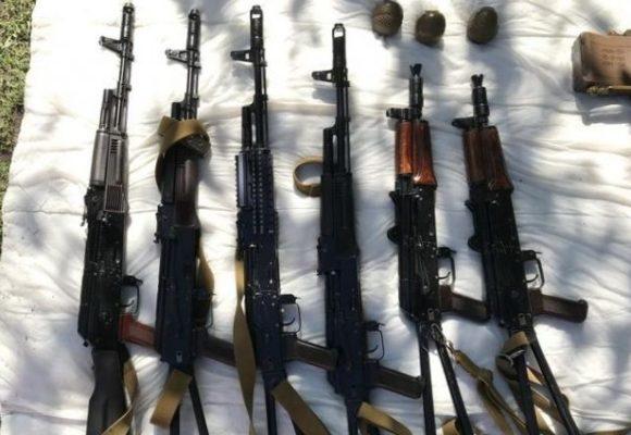 У жителя Луганской области в гараже нашли огромный склад оружия